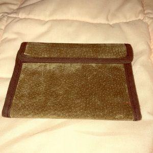 EUC- Vintage Suede Wallet/Billfold
